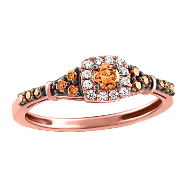 ROSE GOLD BROWN DIAMOND RING RIN-LDI-2187