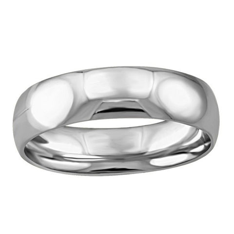 WHITE GOLD 5MM WEDDING BAND RIN-WBG-1349