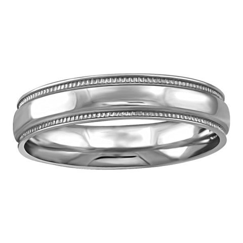 WHITE GOLD 4MM MILLED EDGE WEDDING BAND RIN-WBG-1353