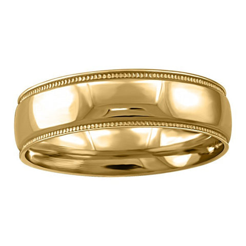 GOLD 6MM MILLED EDGE WEDDING BAND RIN-WBG-1359