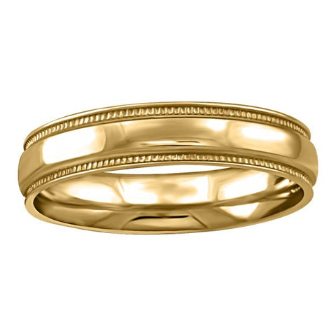 GOLD 4MM MILLED EDGE WEDDING BAND RIN-WBG-1360