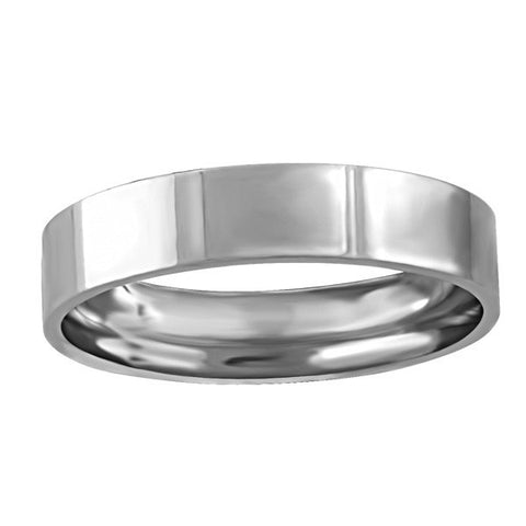 WHITE GOLD 4MM PIPE WEDDING BAND RIN-WBG-1363