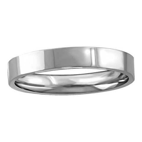 WHITE GOLD 3MM PIPE WEDDING BAND RIN-WBG-1364