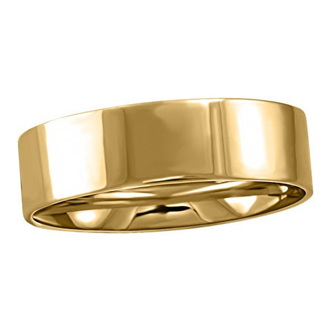 GOLD 6MM PIPE WEDDING BAND RIN-WBG-1365