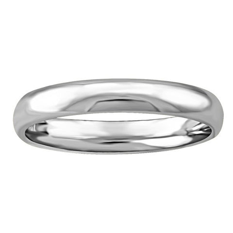 WHITE GOLD 3MM WEDDING BAND RIN-WBG-1386