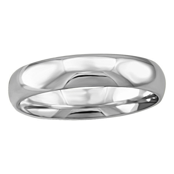WHITE GOLD 4MM WEDDING BAND RIN-WBG-1389