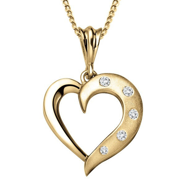GOLD DIAMOND HEART PENDANT PEN-DIA-1041