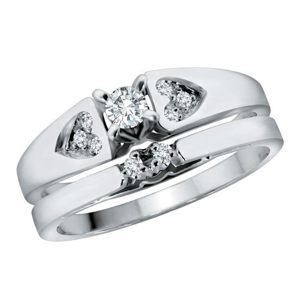 White Gold Diamond Matching Band