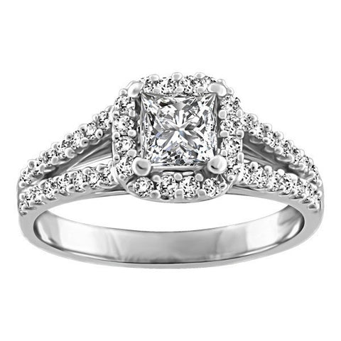 WHITE GOLD GLACIER ICE ENGAGEMENT RING RIN-LCA-2880