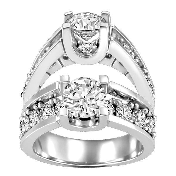 WHITE GOLD 2.00 CTW DIAMOND ENGAGEMENT RING RIN-ENG-1495