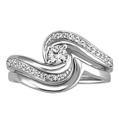 WHITE GOLD GLACIER ICE CANADIAN DIAMOND ENGAGEMENT RING RIN-LCA-2891