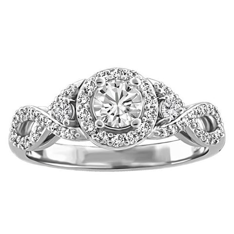 FOREVER IN LOVE 18KT WHITE GOLD DIAMOND ENGAGEMENT RING RIN-ENG-2567