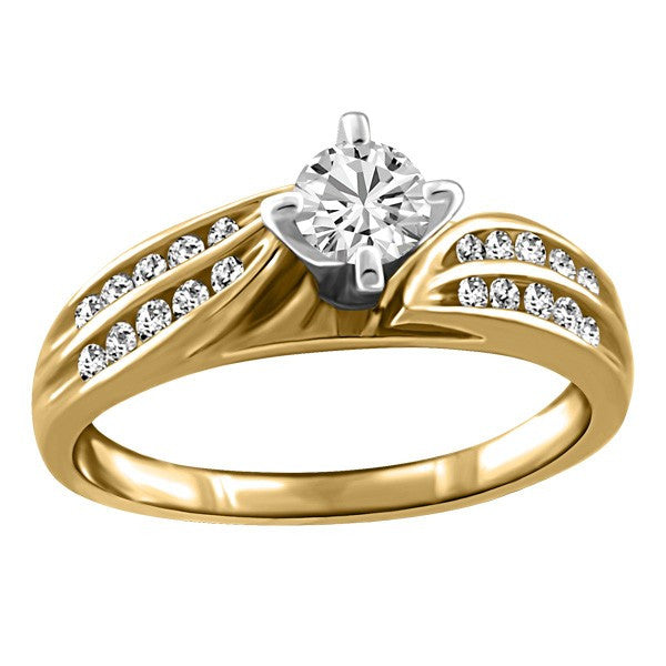 GOLD DIAMOND ENGAGEMENT RING RIN-ENG-0274