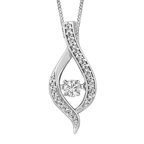 LUMINANCE WHITE GOLD GLACIER ICE CANADIAN DIAMOND PENDANT