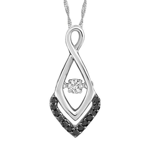 LUMINANCE WHITE GOLD BLACK DIAMOND PENDANT