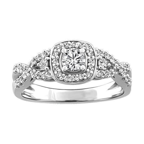 WHITE GOLD GLACIER ICE CANADIAN DIAMOND ENGAGEMENT RING
