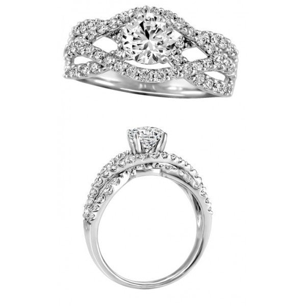 ROUND BRILLIANT DIAMOND ENGAGEMENT RING RIN-ENG-2016