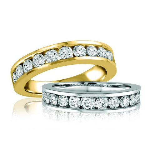 1 Carat White Gold Diamond Anniversary Band