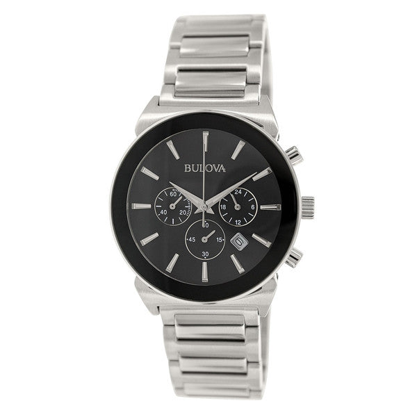Bulova Men's Classic Silver Stainless-Steel Watch