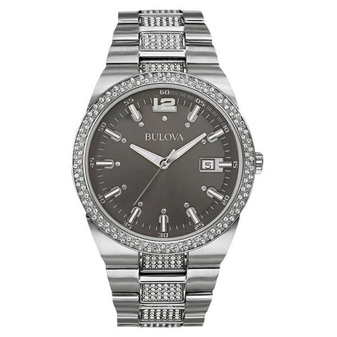 Bulova Men's Crystal White Watch