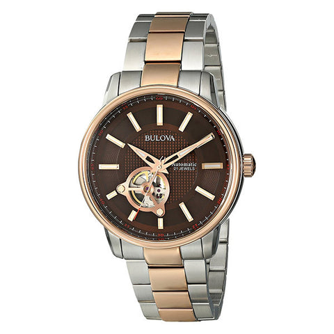 Bulova Men's Analog Display Japanese Quartz Two Tone Watch