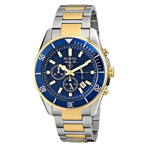 Bulova Men's Marine Star Two Tone Watch