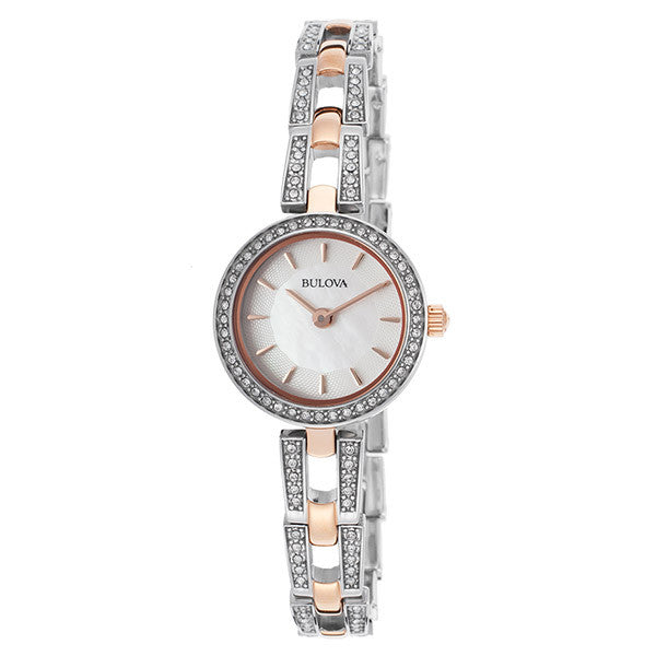 Bulova Women's Silver Stainless-Steel Quartz Watch
