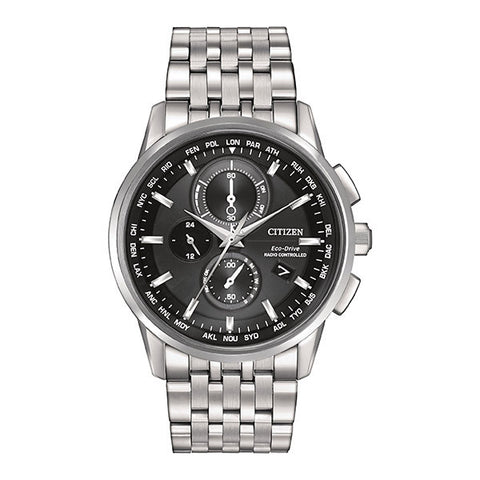 Citizen Men's World Chronograph A-T Black Dial Watch