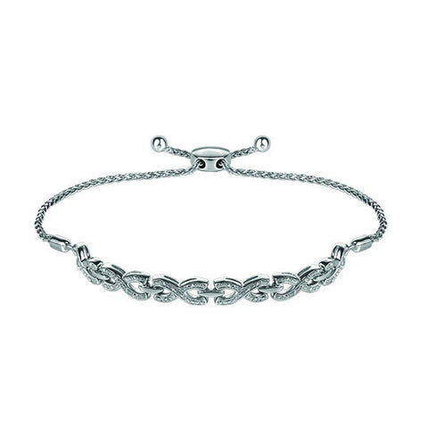 Adjustable Silver Diamond Bracelet