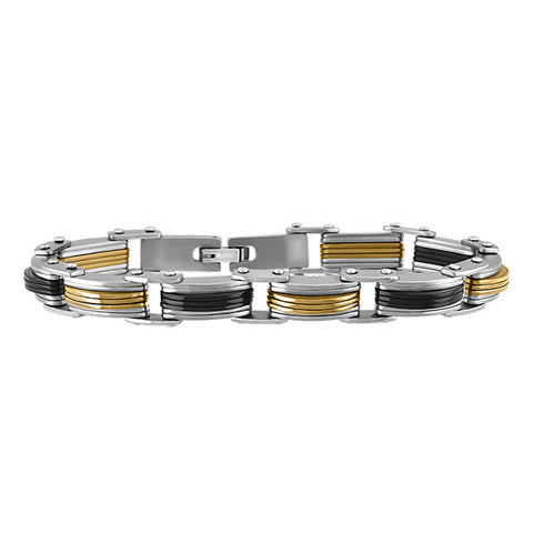 Mens Black Stainless Steel Bracelet