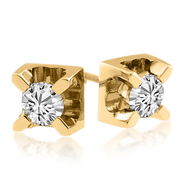 Gold 0.50 Carat Canadian Diamond Stud Earrings