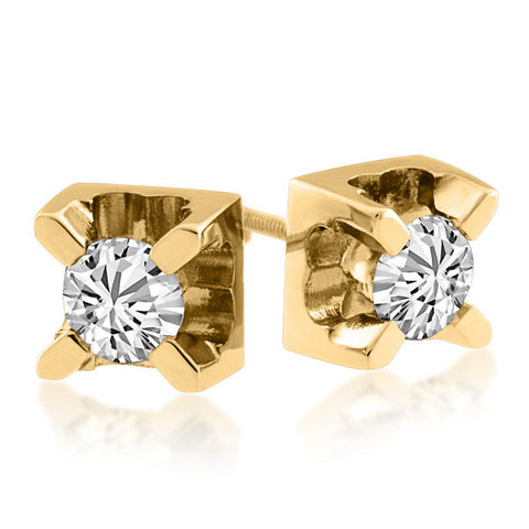 Gold 0.10 Carat Canadian Diamond Stud Earrings
