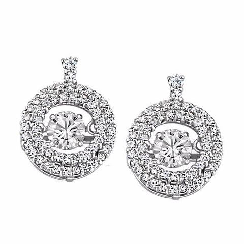 Luminance White Gold Fire of the North Diamond Earrings