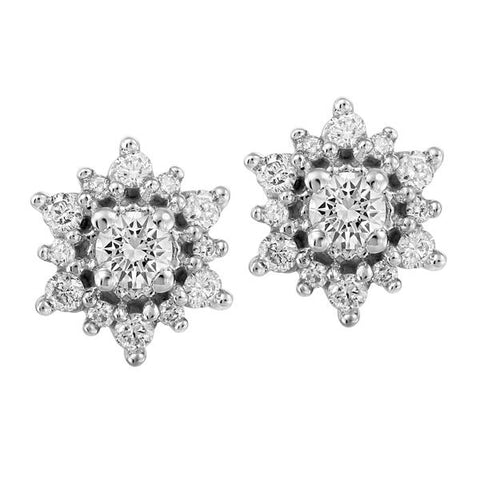 White Gold Round Brilliant Canadian Diamond Earrings