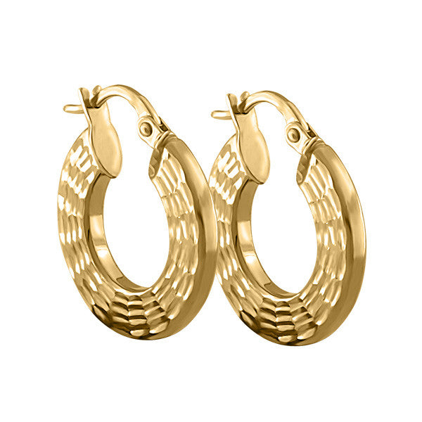 Yellow Gold Hoop Earrings