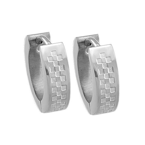 Men's Stainless Steel Hoop Earrings