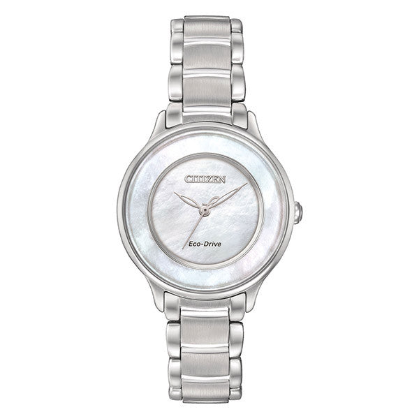 Citizen Women's Silver Tone Circle of Time MOP Dial Watch