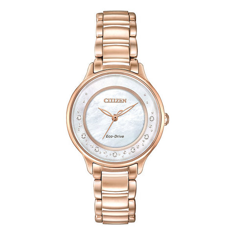 Citizen Women's Rose Tone Circle of Time MOP Dial Watch