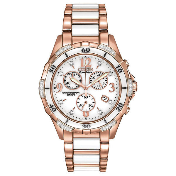 Citizen Women's Ceramic Rose Tone Watch