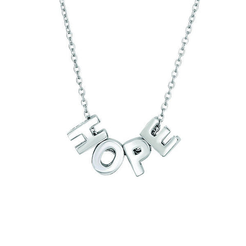 18  Silver Hope Necklace