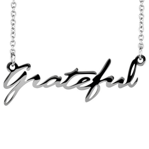 Stainless Steel GRATEFUL Necklace