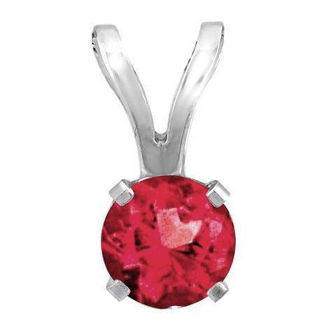 White Gold Ruby Pendant