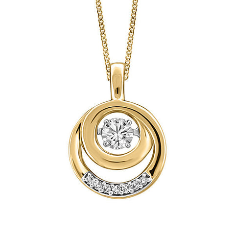 Luminance Yellow Gold Fire of the North Canadian Diamond Pendant