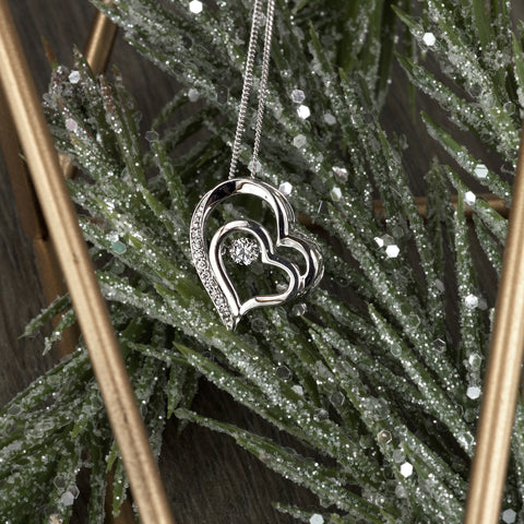 White Gold Canadian Diamond Luminance Heart Pendant