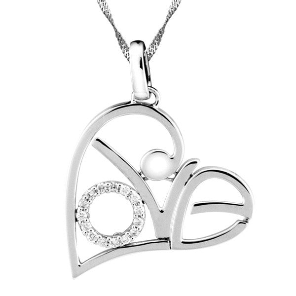 White Gold Love Pendant