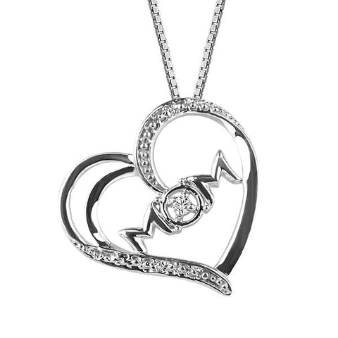 White Gold Diamond Mom Pendant