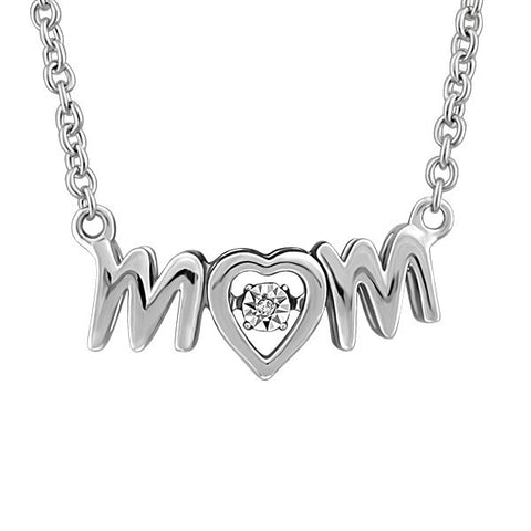 Luminance Silver Diamond Mom Pendant
