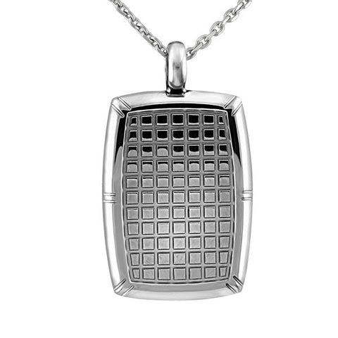 Mens Stainless Steel Tag Pendant