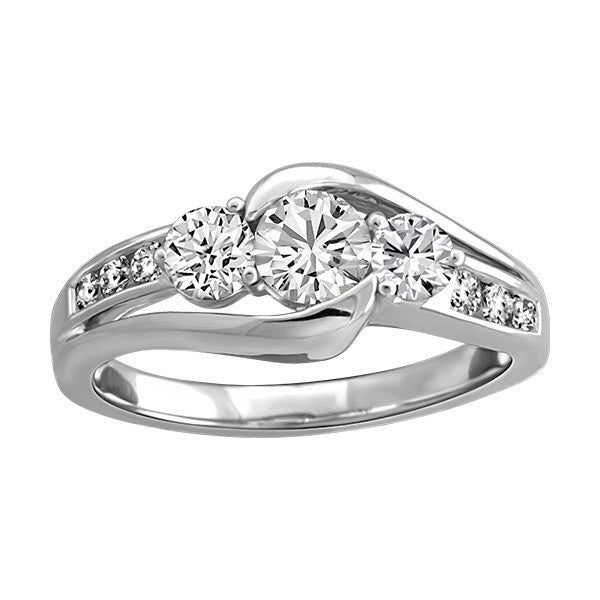 White Gold Diamond Engagement Ring