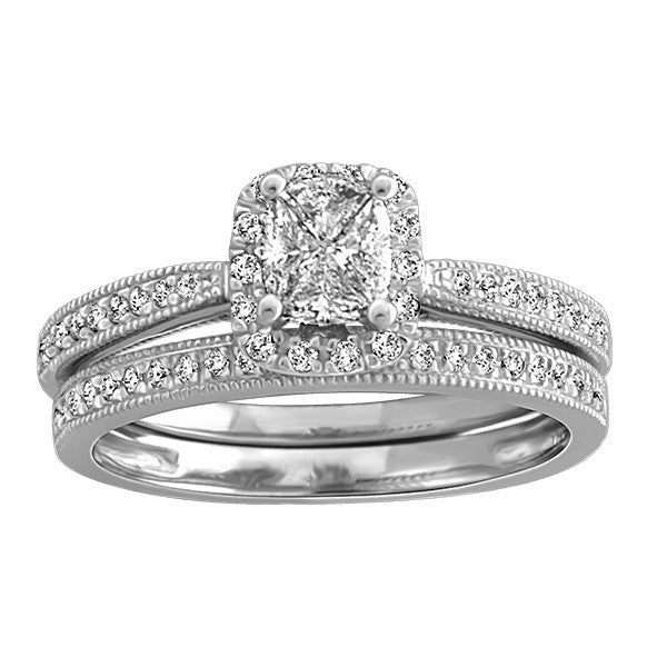 0.41 CTW, White Gold Diamond Engagement Ring